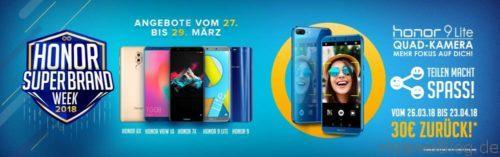 honor 9 Lite Cashback Aktion