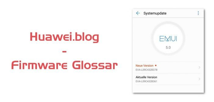 Huawei Firmware Update Glossar