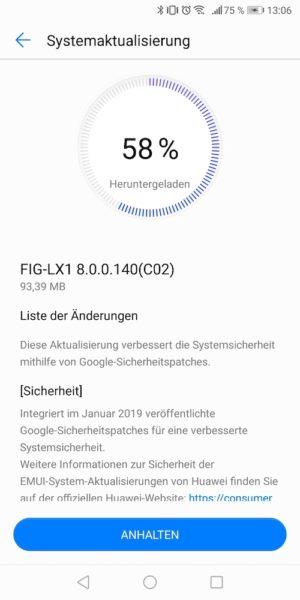 Google Januar Patches für HUAWEI P10 Plus und P Smart 2