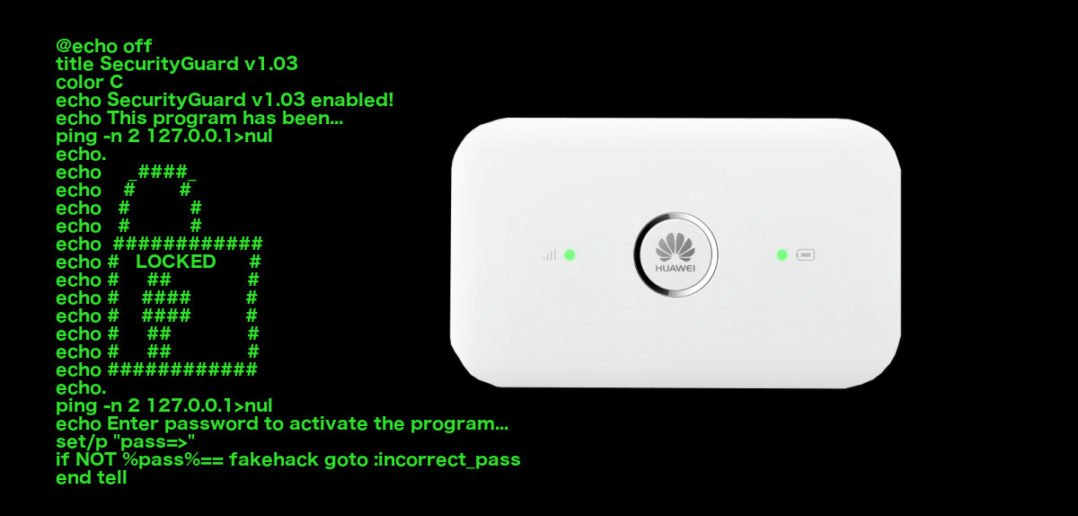 Huawei Router Hack Angriff