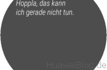 Huawei Watch 2 Anzeige OK Google