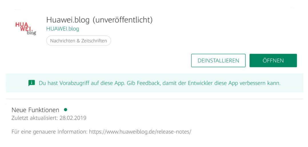HUAWEI.blog App - Beta - Titel