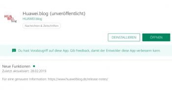 HUAWEI.blog App - Beta - Titel