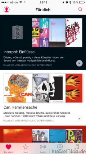 Apple Music auf iOS
