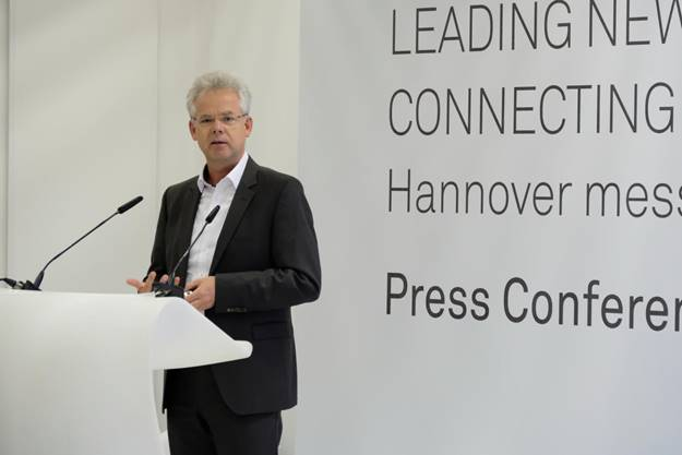Jörg Diederichs, CTO/VP New Business (IoT/I4.0) bei Huawei Technologies in Düsseldorf, bei seiner Rede
