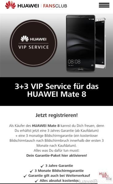 3+3 VIP Service - Huawei Mate 8