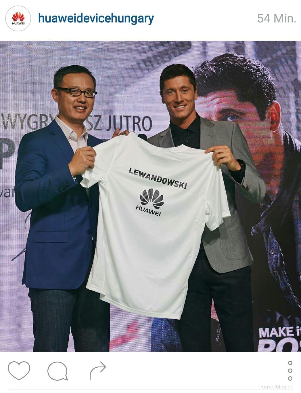 Robert Lewandowski wirbt für Huawei