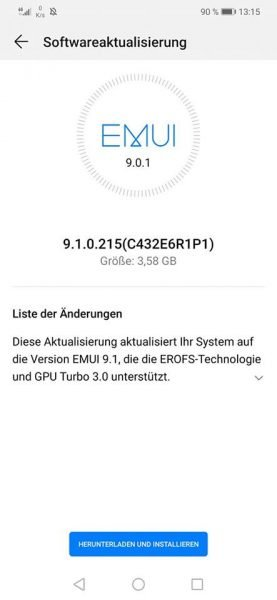 HUAWEI Mate 20 lite - Firmware Update- SNY-LX1 9.1.0.1