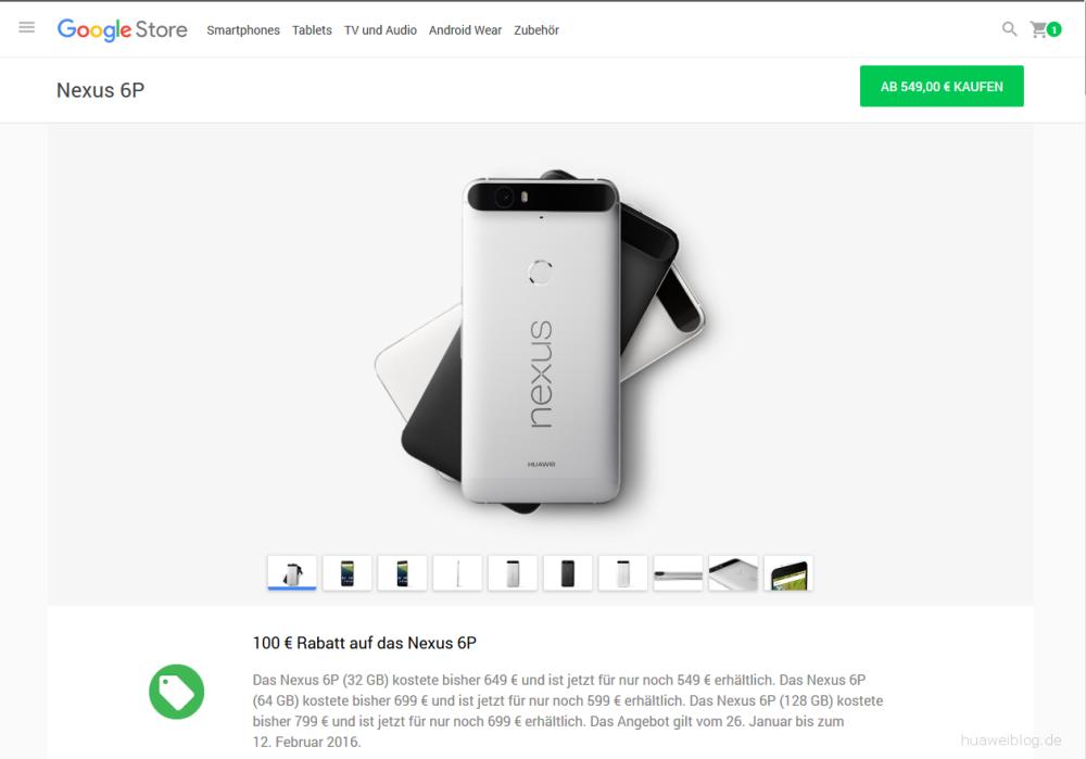 Nexus 6P Rabatt