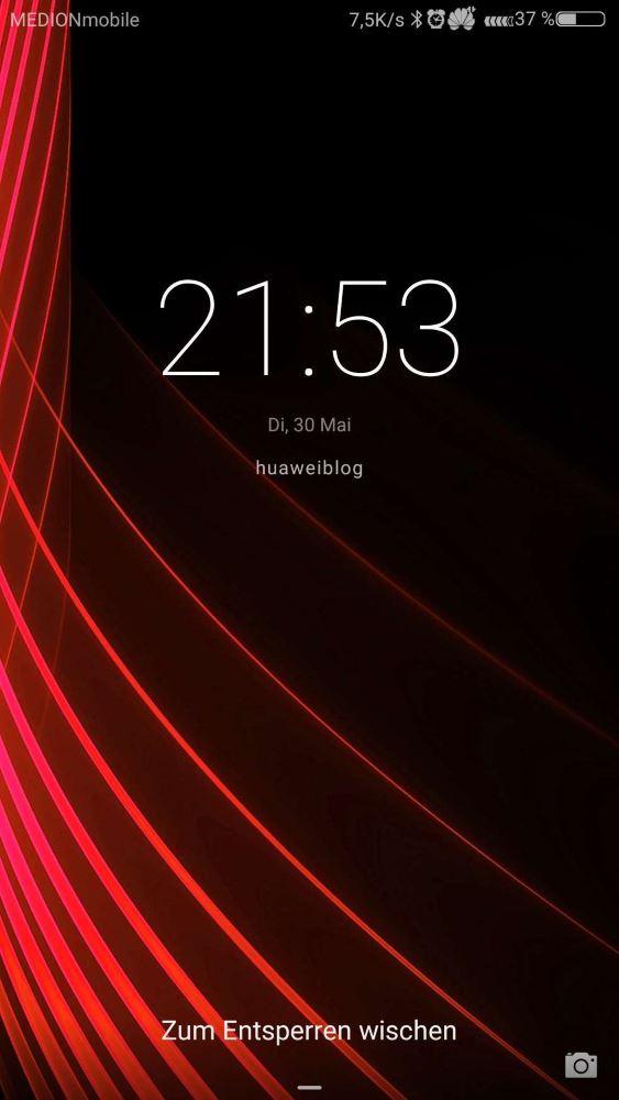 huaweiblog Theme EMUI 5 Lockscreen