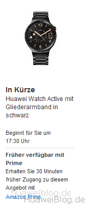 Amazon Huawei Watch Blitzangebot